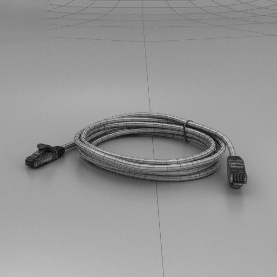 Cable de ethernet royalty-free modelo 3d - Preview no. 3