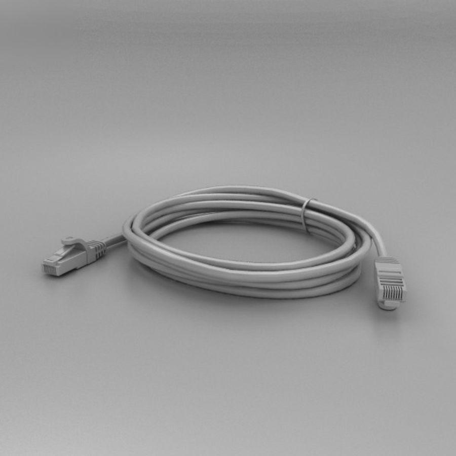 Cable de ethernet royalty-free modelo 3d - Preview no. 11