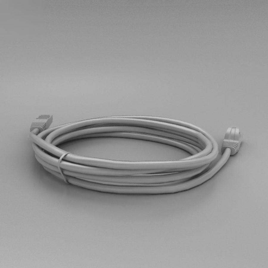 Cable de ethernet royalty-free modelo 3d - Preview no. 12