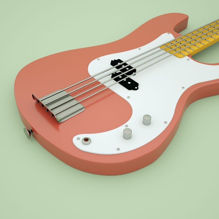 Fender Precision Bass royalty-free 3d model - Preview no. 4