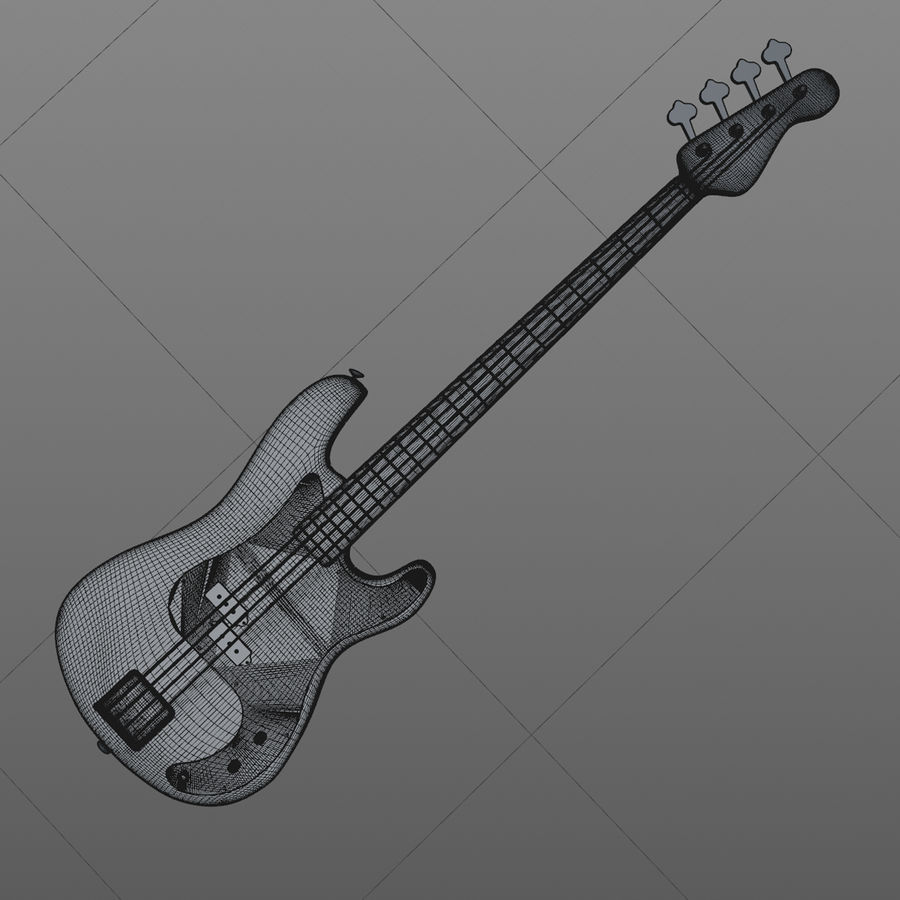 Fender Precision Bass royalty-free 3d model - Preview no. 8