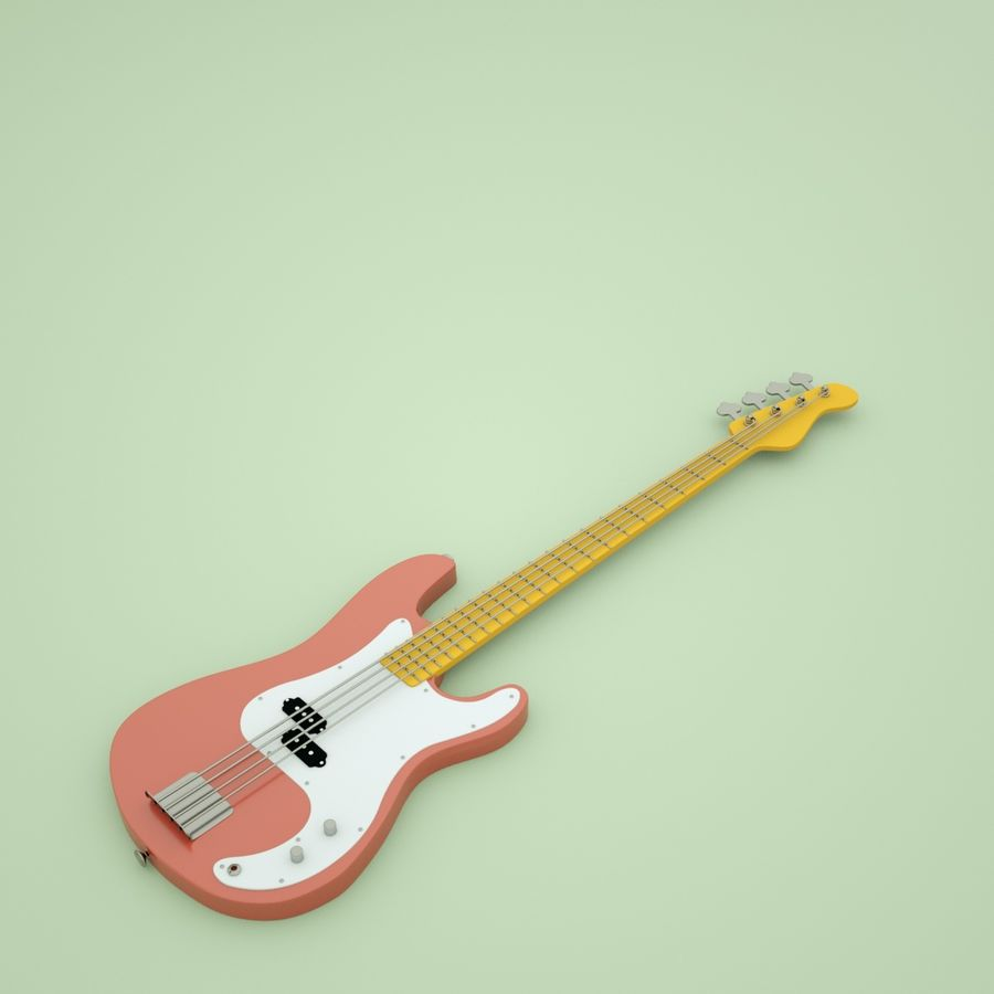 Fender Precision Bass royalty-free 3d model - Preview no. 1