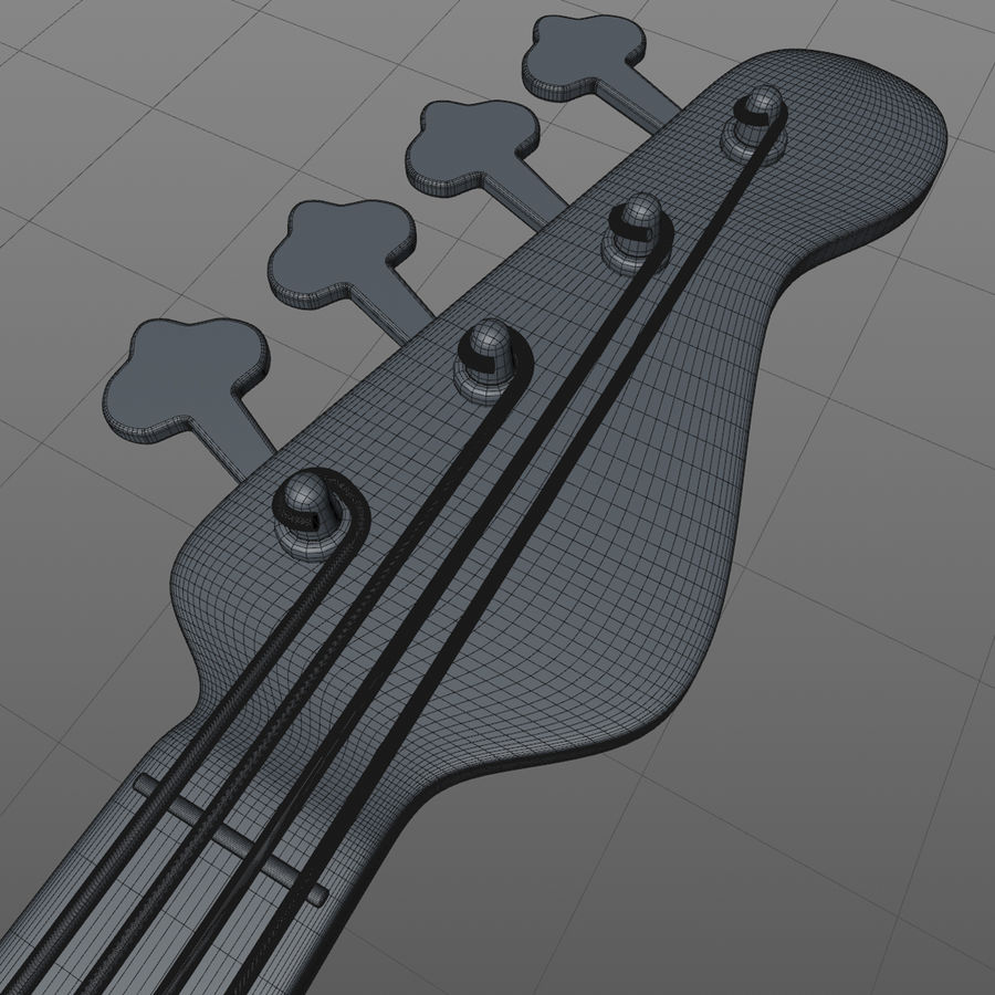 Fender Precision Bass royalty-free 3d model - Preview no. 7