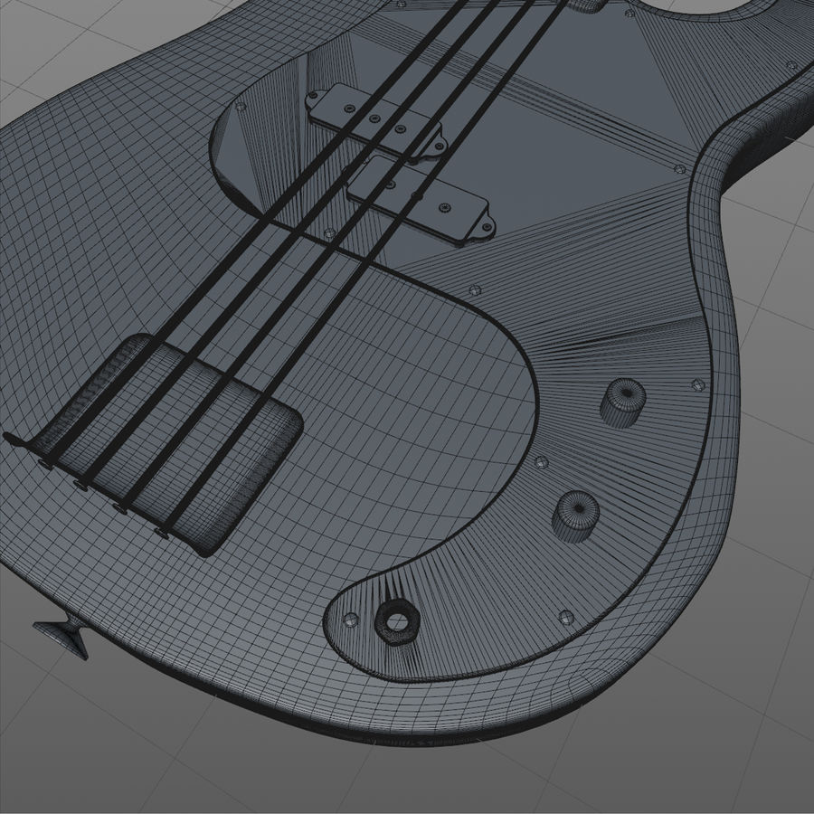 Fender Precision Bass royalty-free 3d model - Preview no. 6