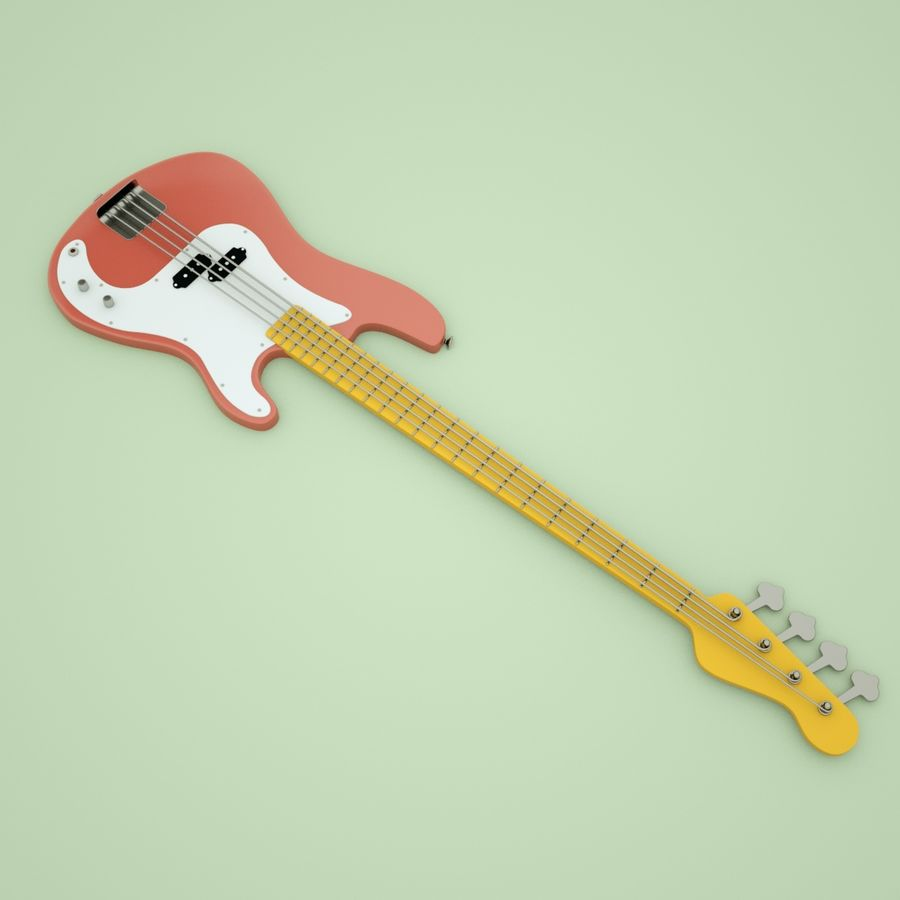 Fender Precision Bass royalty-free 3d model - Preview no. 5