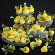 Яблоки установлены 3d model