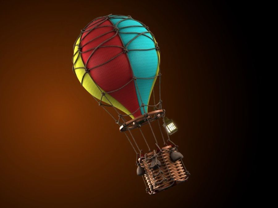 Balloon cartoon royalty-free 3d model - Preview no. 2