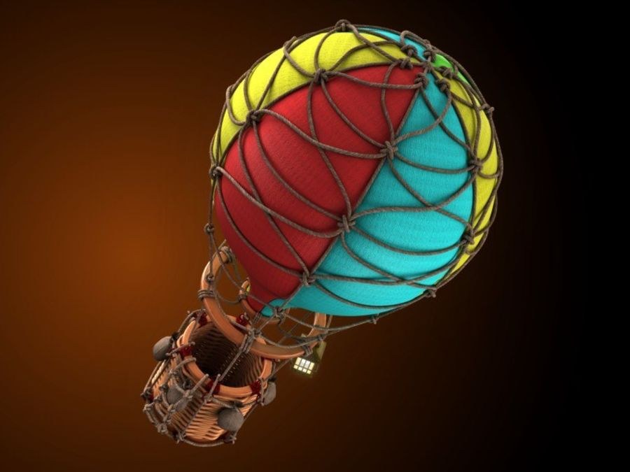 Balloon cartoon royalty-free 3d model - Preview no. 3