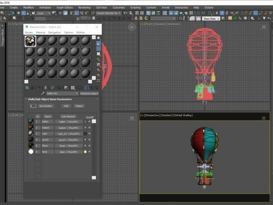 Balloon cartoon royalty-free 3d model - Preview no. 17