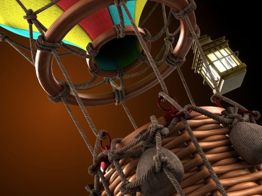 Balloon cartoon royalty-free 3d model - Preview no. 5