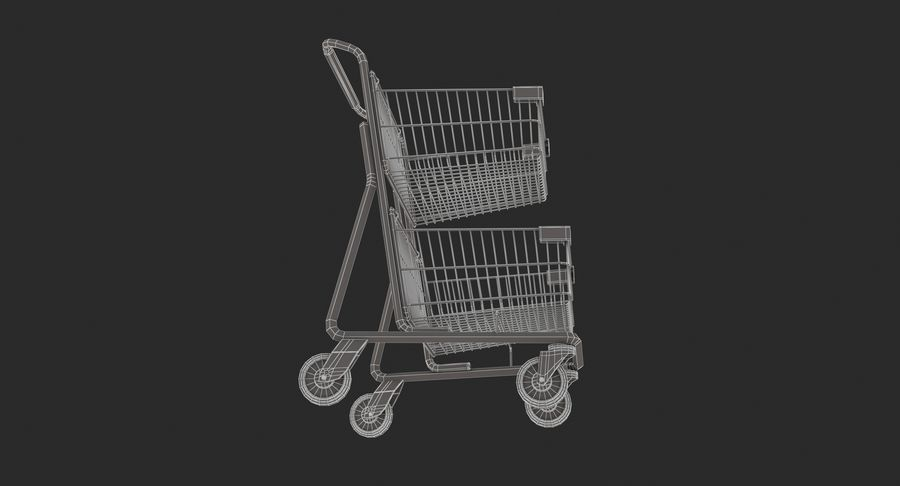 Carrinho de supermercado 2 royalty-free 3d model - Preview no. 11