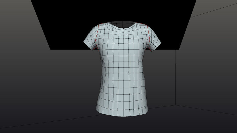 Gra Lowpoly Female Graphic T-Shirt z wieloma kolorami royalty-free 3d model - Preview no. 6
