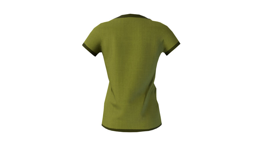 Gra Lowpoly Female Graphic T-Shirt z wieloma kolorami royalty-free 3d model - Preview no. 29