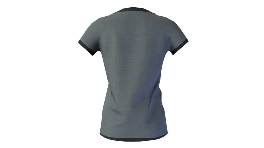 Gra Lowpoly Female Graphic T-Shirt z wieloma kolorami royalty-free 3d model - Preview no. 20