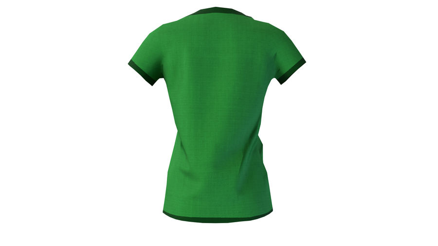 Gra Lowpoly Female Graphic T-Shirt z wieloma kolorami royalty-free 3d model - Preview no. 12