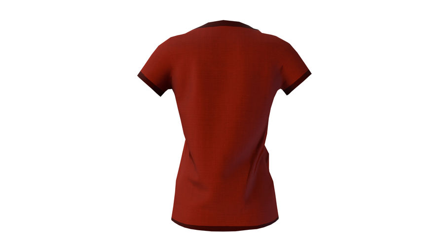Gra Lowpoly Female Graphic T-Shirt z wieloma kolorami royalty-free 3d model - Preview no. 18