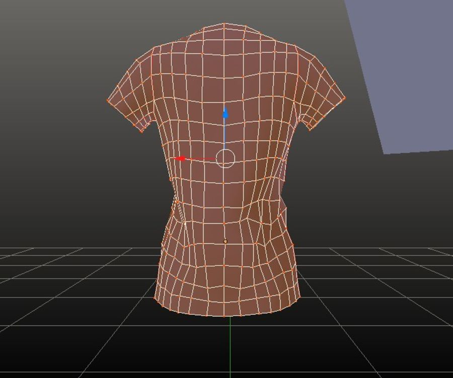 Gra Lowpoly Female Graphic T-Shirt z wieloma kolorami royalty-free 3d model - Preview no. 23