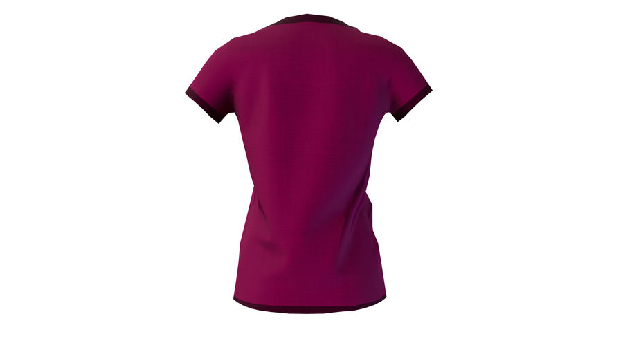 Gra Lowpoly Female Graphic T-Shirt z wieloma kolorami royalty-free 3d model - Preview no. 19