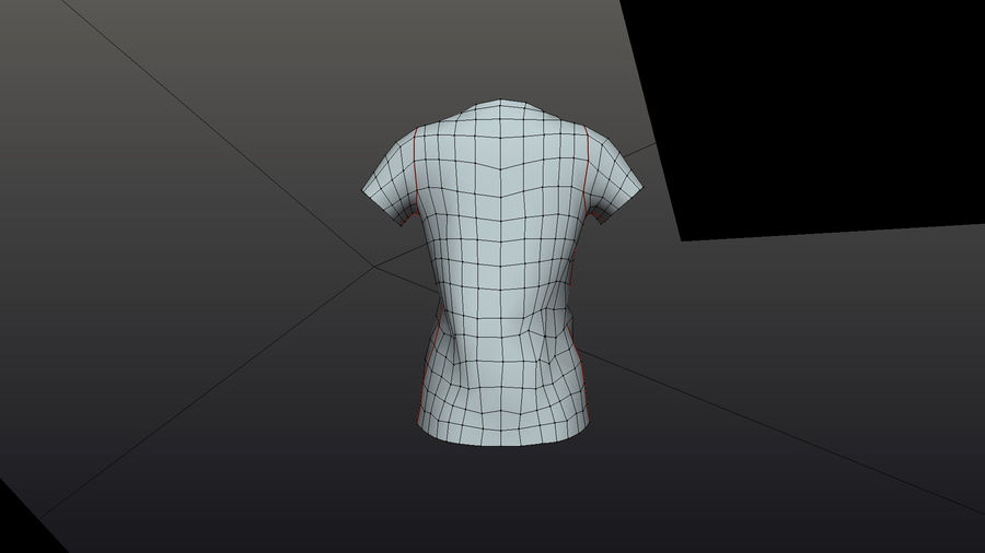 Gra Lowpoly Female Graphic T-Shirt z wieloma kolorami royalty-free 3d model - Preview no. 7