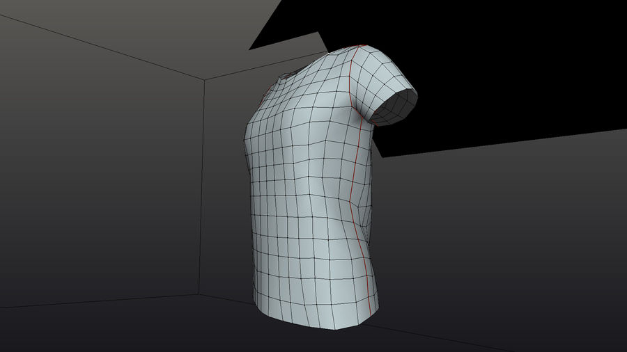 Gra Lowpoly Female Graphic T-Shirt z wieloma kolorami royalty-free 3d model - Preview no. 8