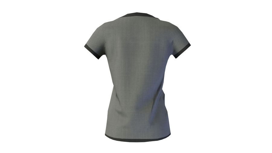 Gra Lowpoly Female Graphic T-Shirt z wieloma kolorami royalty-free 3d model - Preview no. 5