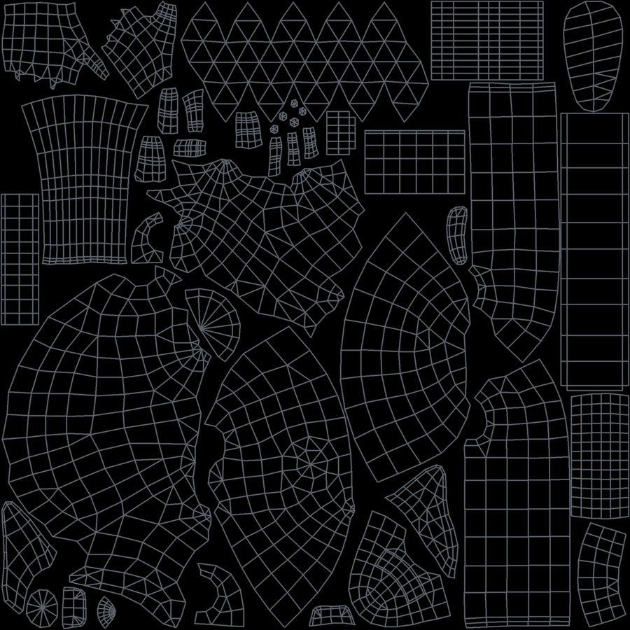 野兽男孩 royalty-free 3d model - Preview no. 21