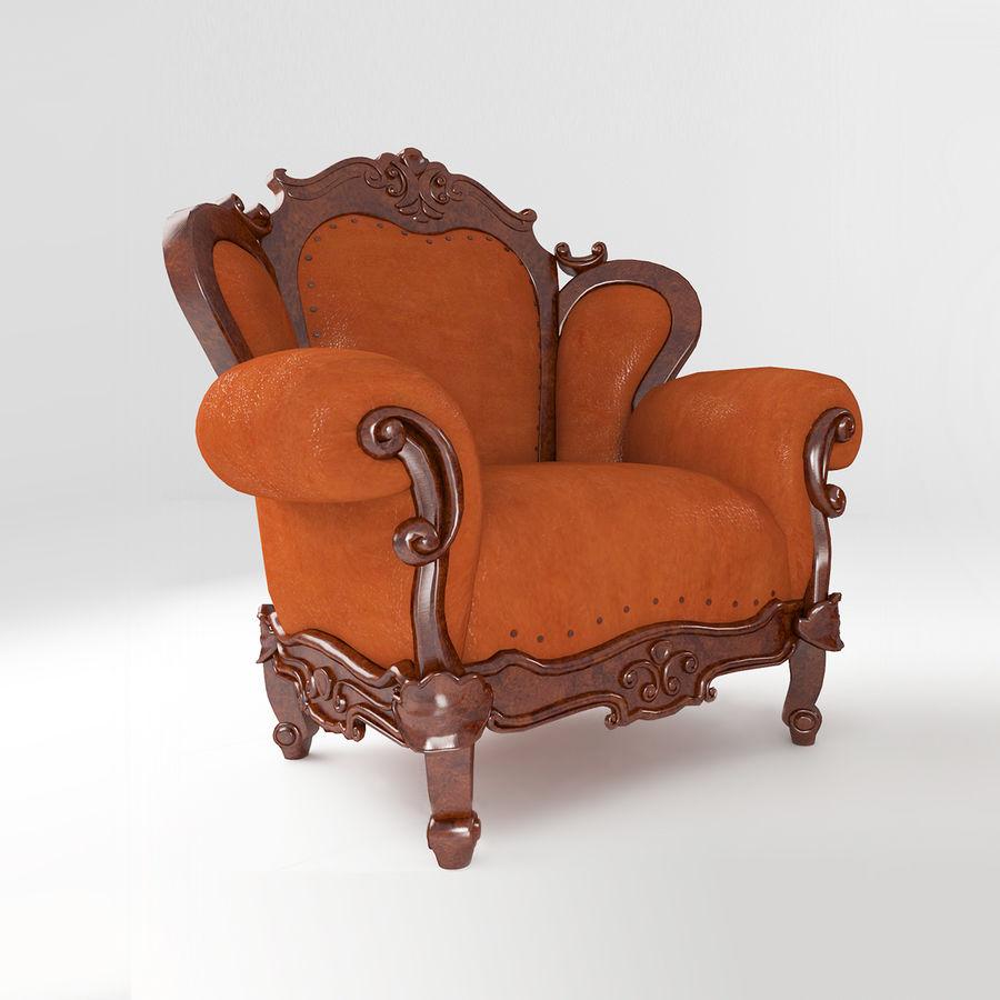 комплект мебели диван, кресло royalty-free 3d model - Preview no. 4