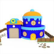 Cartone animato dolce casa 3d model