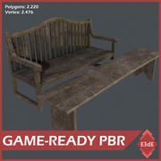 Western Benches 3d model