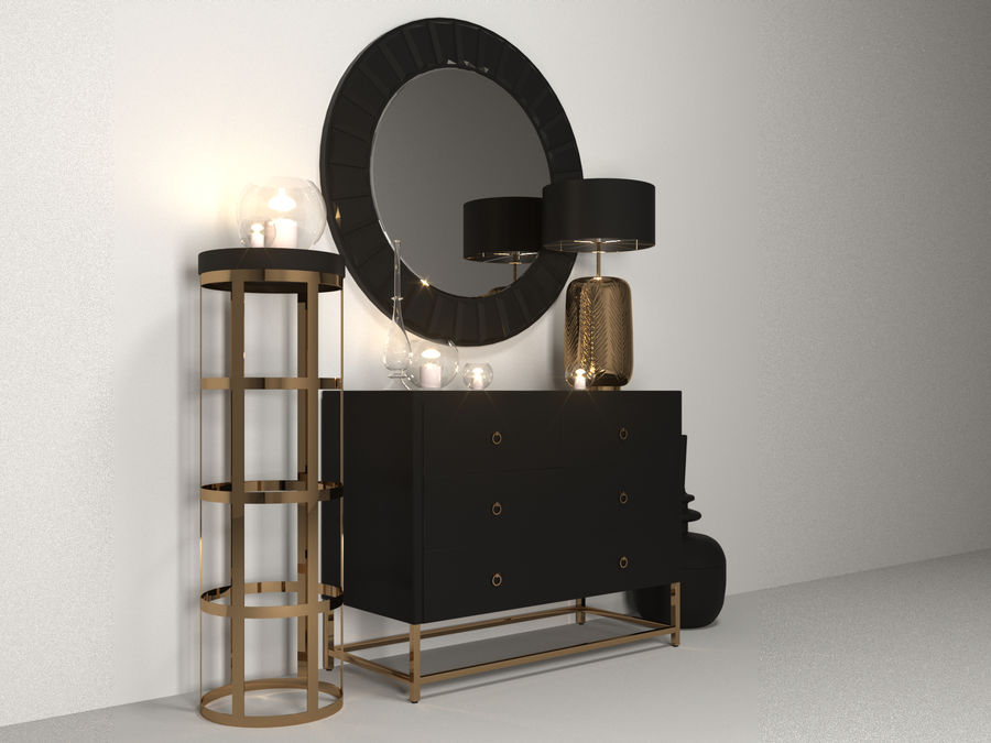 Gold Set Einrichtung royalty-free 3d model - Preview no. 4