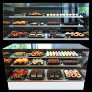 Cake set 3d model