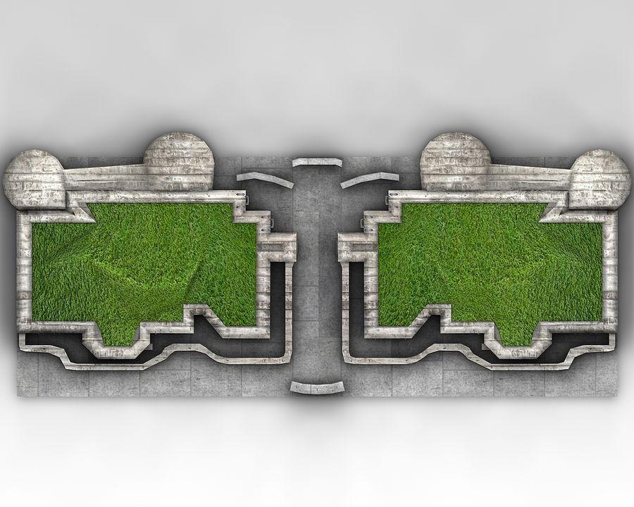 陣地壕 royalty-free 3d model - Preview no. 2