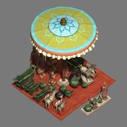 Accessories - Earthenware Pottery - Ceramic Stand 036 3d model
