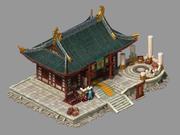 Остров Цветения Персика - Дом Кузнечного дела 23 3d model