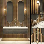 Bathroom set 1 (Toto and Berloni) 3d model