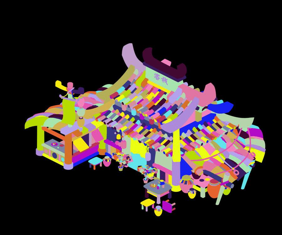 Zachodnie przedmieścia - stacja 02 royalty-free 3d model - Preview no. 4