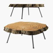 Tavolino In Legno 3d model