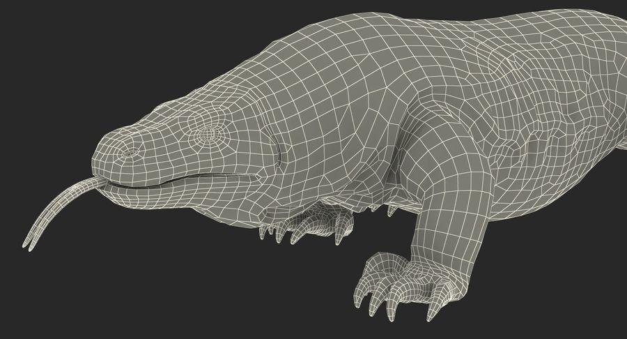 Komodo Dragon Walking Pose 3D Model royalty-free 3d model - Preview no. 19