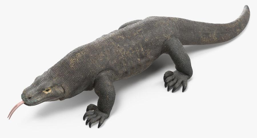Komodo Dragon Walking Pose 3D Model royalty-free 3d model - Preview no. 4