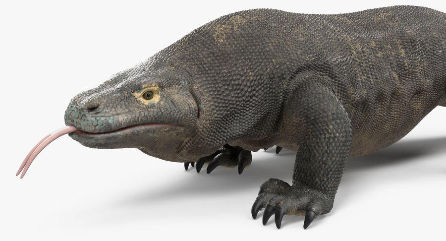 Komodo Dragon Walking Pose 3D Model royalty-free 3d model - Preview no. 10