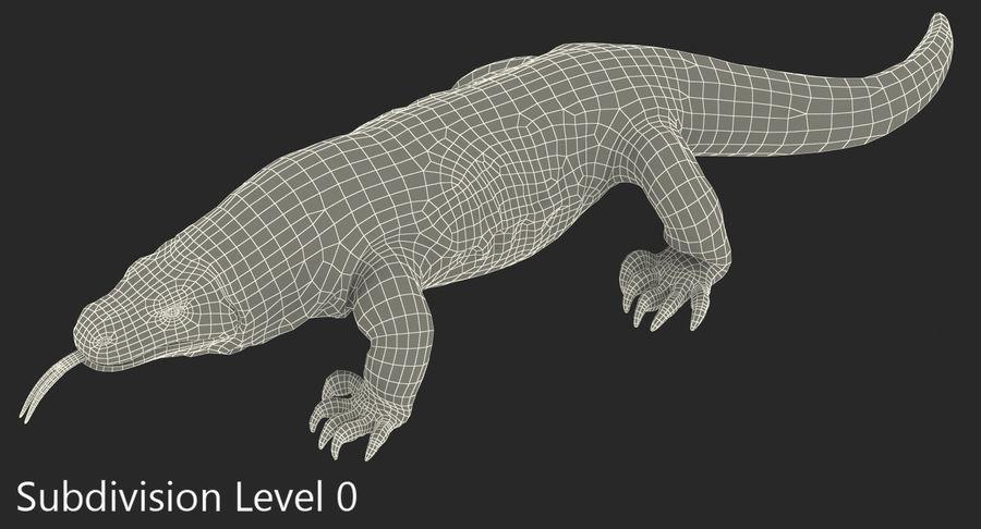 Komodo Dragon Walking Pose 3D Model royalty-free 3d model - Preview no. 11