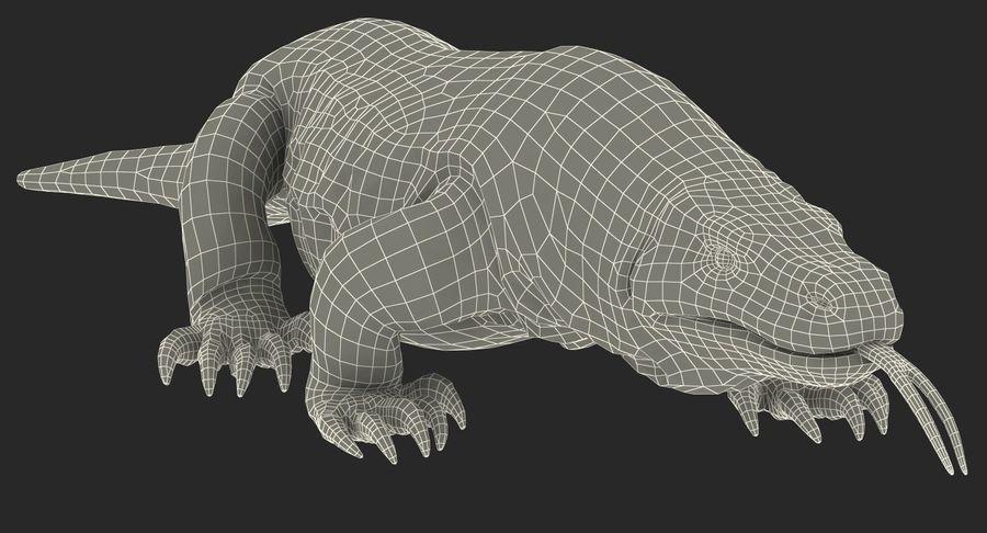 Komodo Dragon Walking Pose 3D Model royalty-free 3d model - Preview no. 20
