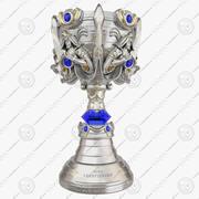League of Legends Summoner's Cup Trophy 3D-Modell 3d model