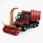 Mercedes-Benz Unimog U530 Paul Snow Plow Truck 2016 년 3d model