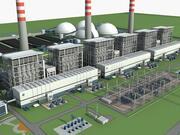 发电厂站 3d model
