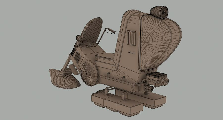 Antigravitational Concept Bike royalty-free 3d model - Preview no. 12