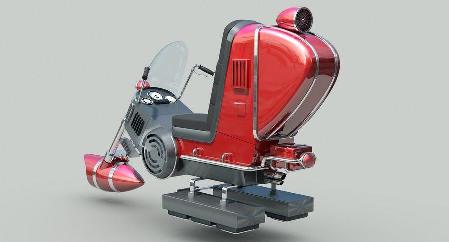 Antigravitational Concept Bike royalty-free 3d model - Preview no. 6