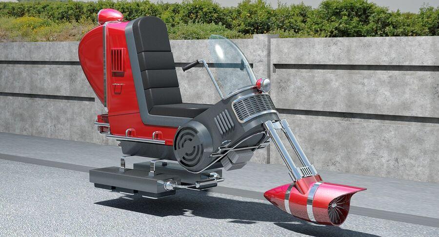 Antigravitational Concept Bike royalty-free 3d model - Preview no. 3