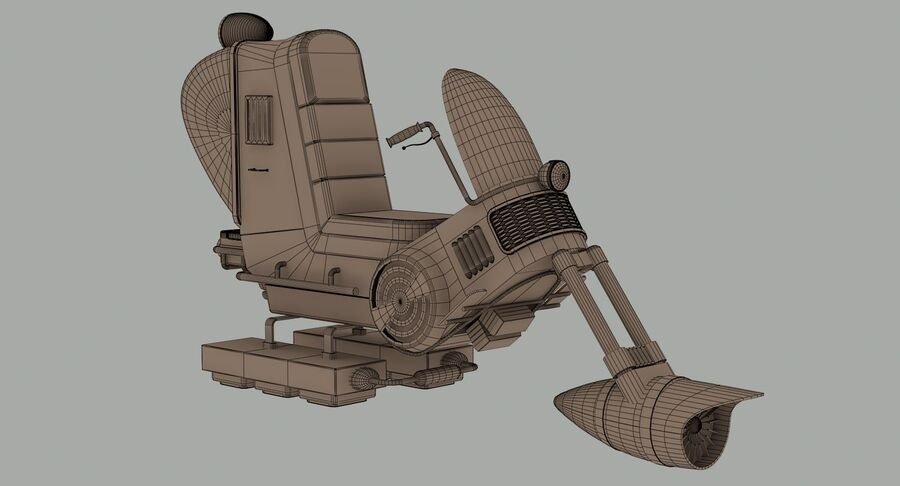 Antigravitational Concept Bike royalty-free 3d model - Preview no. 11