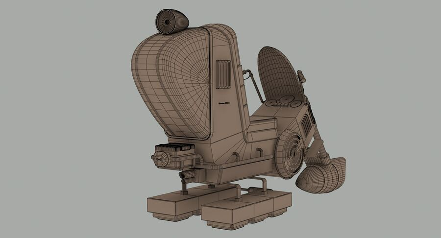 Antigravitational Concept Bike royalty-free 3d model - Preview no. 13